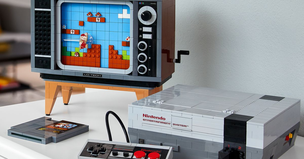 Lego made a 2600-piece replica of playing Mario on the NES – The Verge