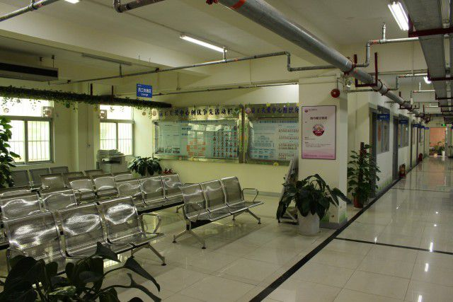 Waiting room at the Foxconn Labor Union and Care Center