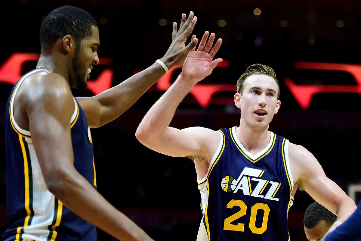ff8be370fa9e NBA Playoffs 2016  Utah Jazz leaders Gordon Hayward and Derrick Favors  should be done watching on TV