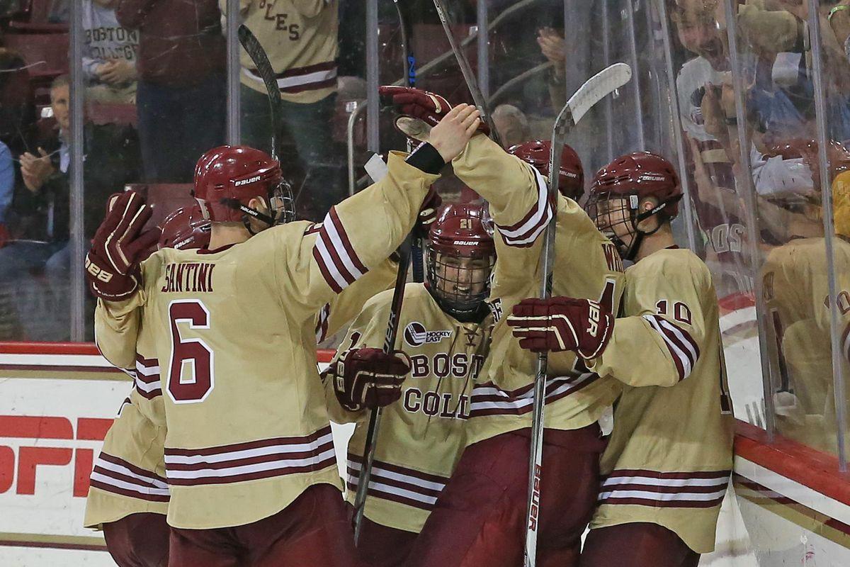 bc eagles dot com hockey celebration