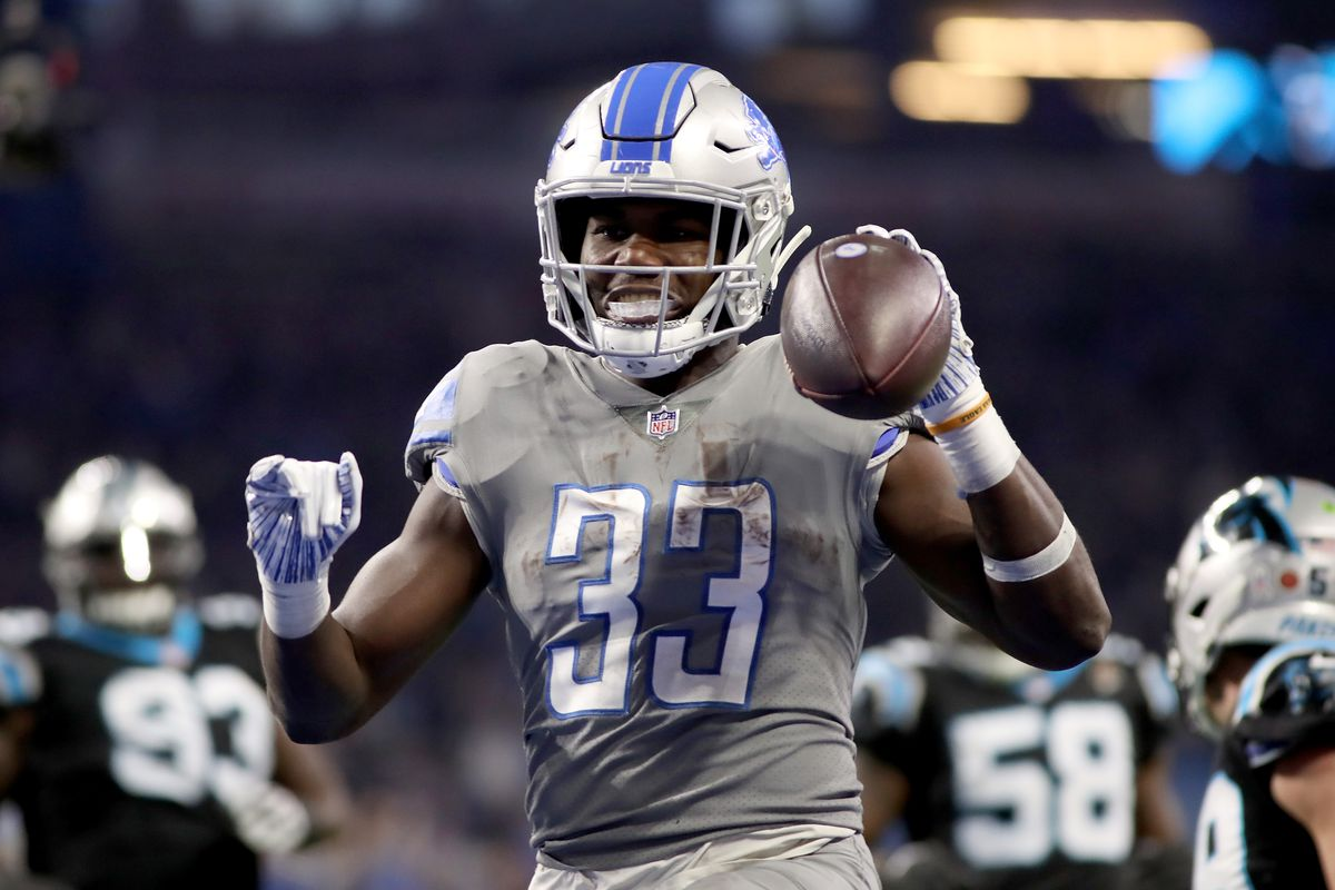lowest price 735c7 67236 Lions RB Kerryon Johnson's goal for 2019: Play a full season ...