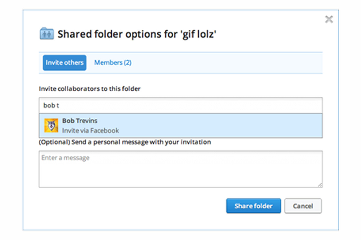 Dropbox Lets You Share Folders Via Facebook