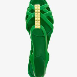 """<a href=""""http://www.forever21.com/Product/Product.aspx?BR=F21&Category=promo_shoes_collection-mel-for-forever21&ProductID=2028137769&VariantID=063"""">Mel for Forever21 Jelly Sandals</a>, $19.80 at Forever21"""