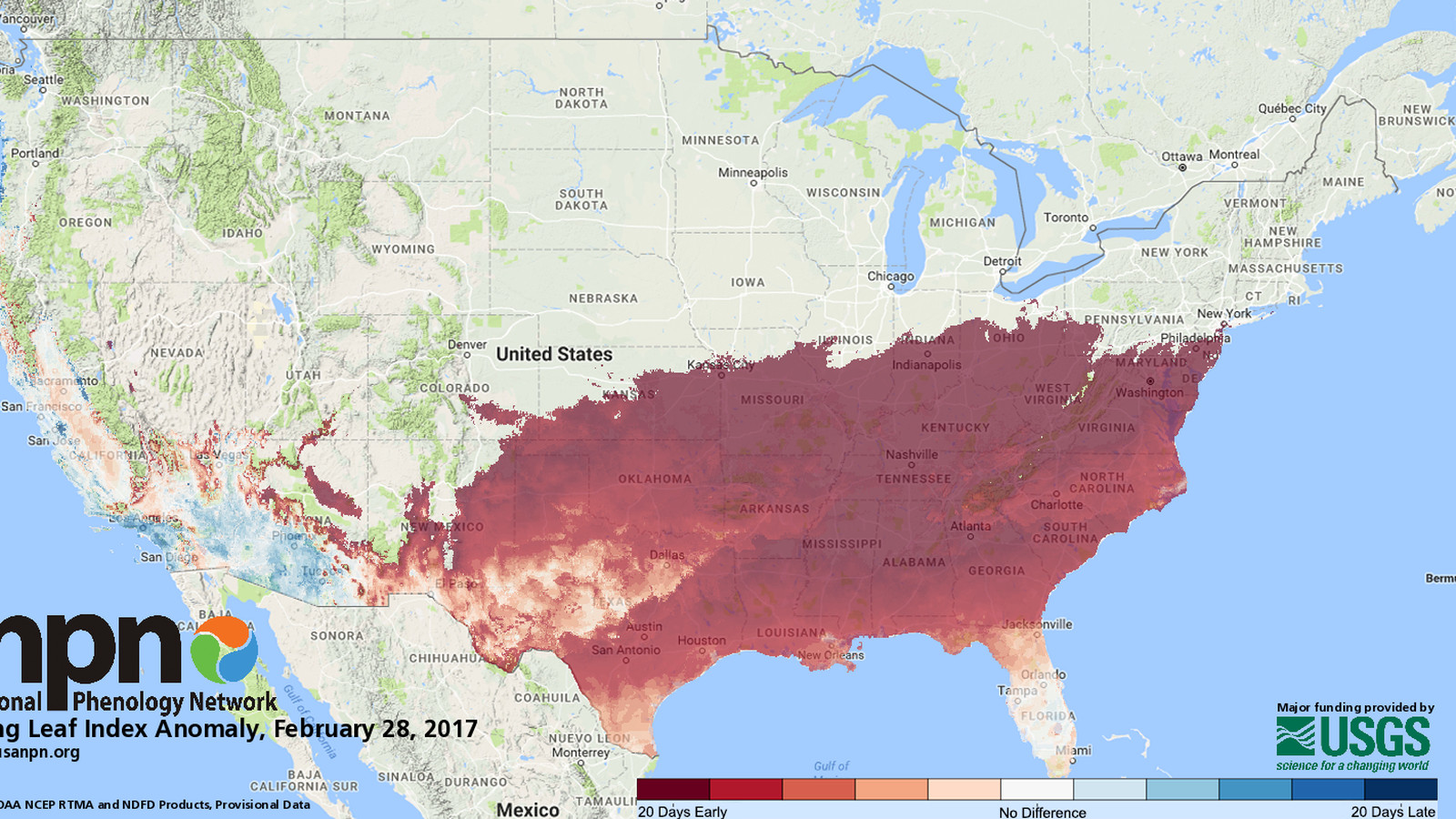 These maps show how early spring is arriving in your state ... on dcnr maps, topographic maps, digitalglobe maps, dnr maps, google maps, science maps, esri maps, delorme maps, geological survey maps, microsoft maps, geology maps, twra maps, ascs maps, noaa maps, bucks county pa township maps, cornell university maps, cia maps, osm maps, unosat maps, usc maps,