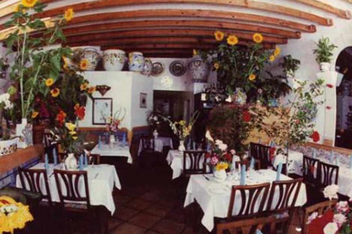 Inside La Pergola.