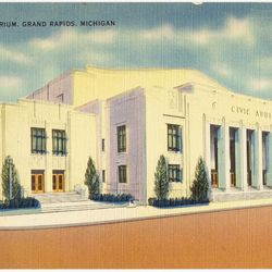 1950-1951: Grand Rapids Hornets (NPBL) played in this building