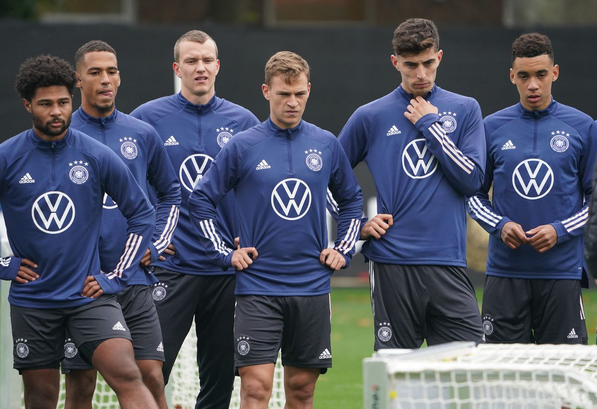 Training national team before the World Cup qualifier
