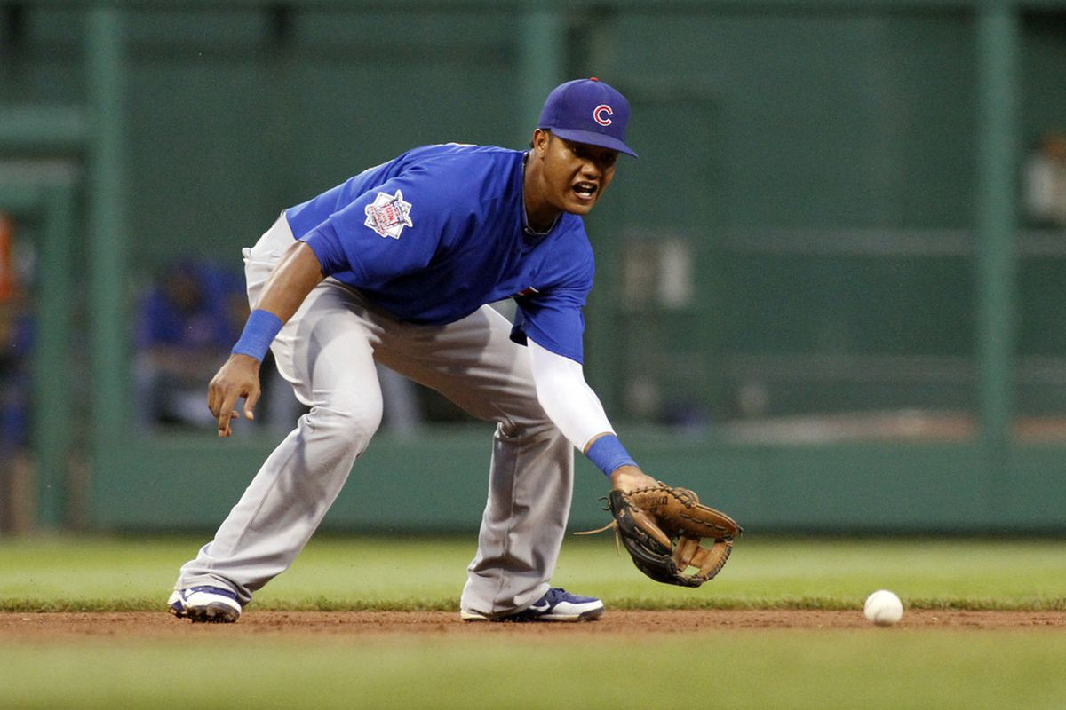 Starlin Castro of the Chicago Cubs fields a ground ball against the Pittsburgh Pirates at PNC Park in Pittsburgh, Pennsylvania.  (Photo by Justin K. Aller/Getty Images)