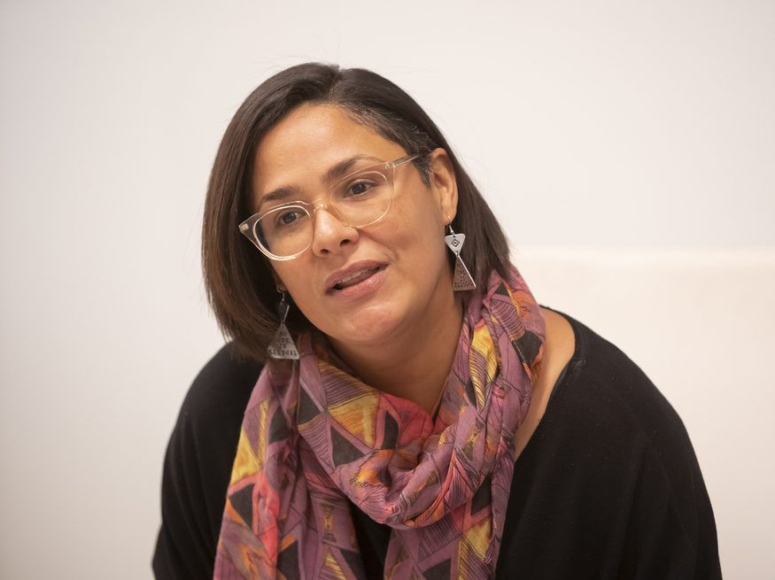 33rd Ward aldermanic candidate Rossana Rodriguez Sanchez meets with the Sun-Times Editorial Board in January. File Photo.| Rich Hein/Sun-Times