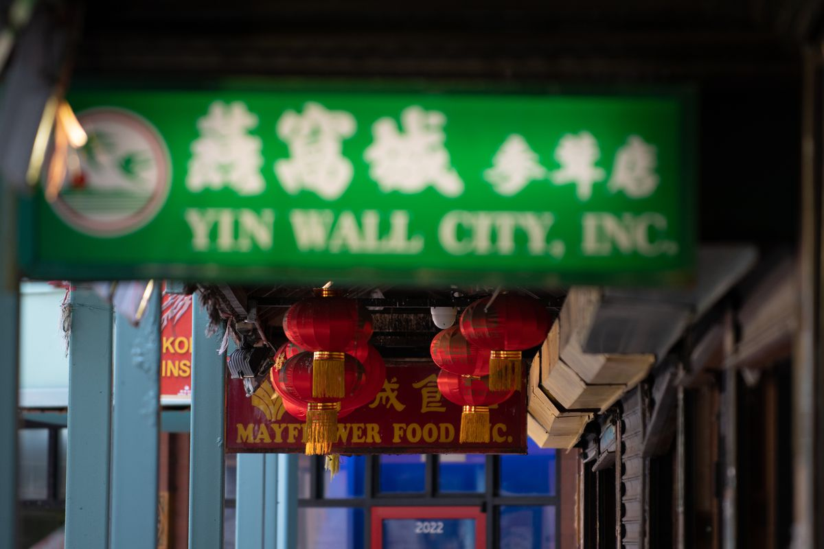 Signs for various restaurants and shops in the Chinatown neighborhood.   Colin Boyle/Sun-Times
