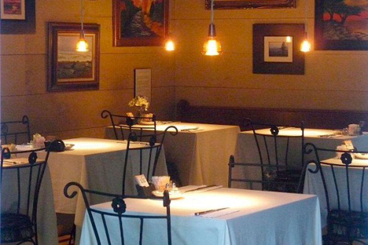 The dining room at 91 South.