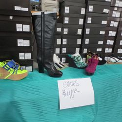 Production shoes and boots -- all $40