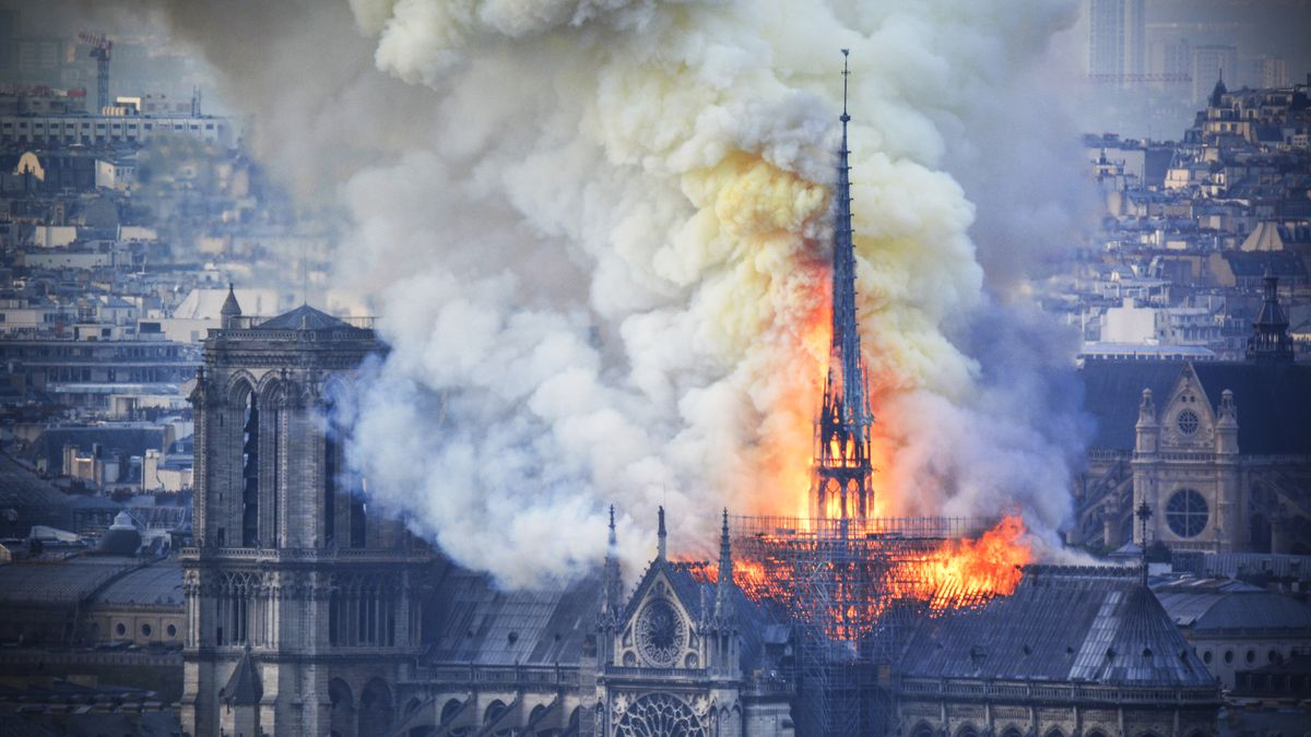 Image result for Notre-Dame de Paris fire