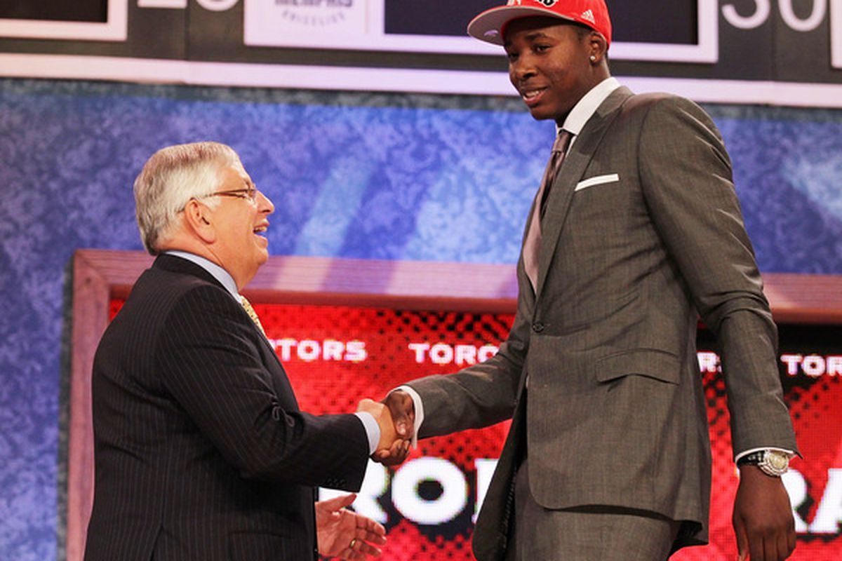 The Toronto Raptors may have struck lottery gold with rookie Ed Davis...