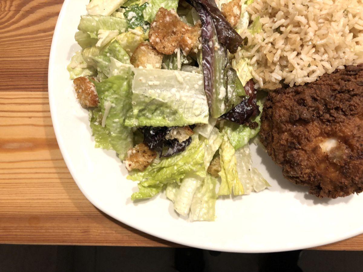 Tender Greens fried chicken plate