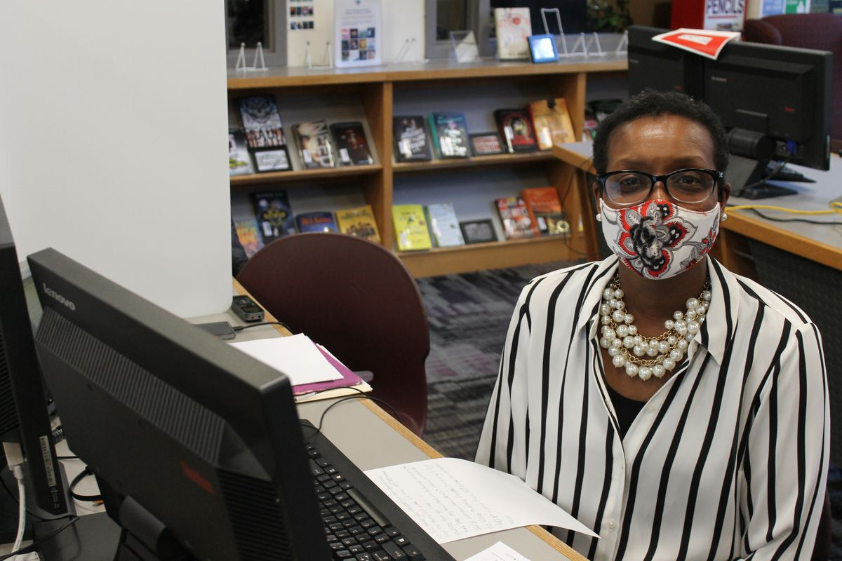 Wayne Township bus driver Erica Woods works as a student case manager for the district during virtual learning.