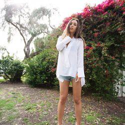 "Rumi of <a href=""http://www.fashiontoast.com/"">Fashion Toast</a> is wearing a Zara shirt, Ksubi Alberceque shorts and Chloe sandals."
