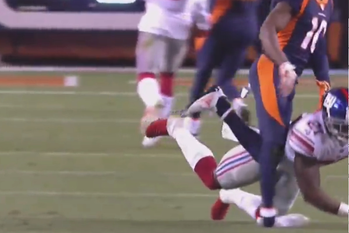 Emmanuel Sanders suffered ankle injury and is out for the game