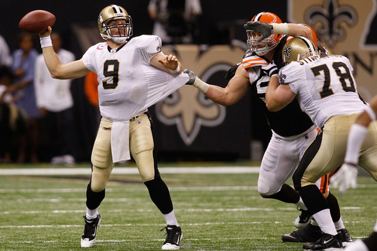 The Browns were able to get near-constant pressure on Drew Brees, leading to a career-high 4 interceptions.