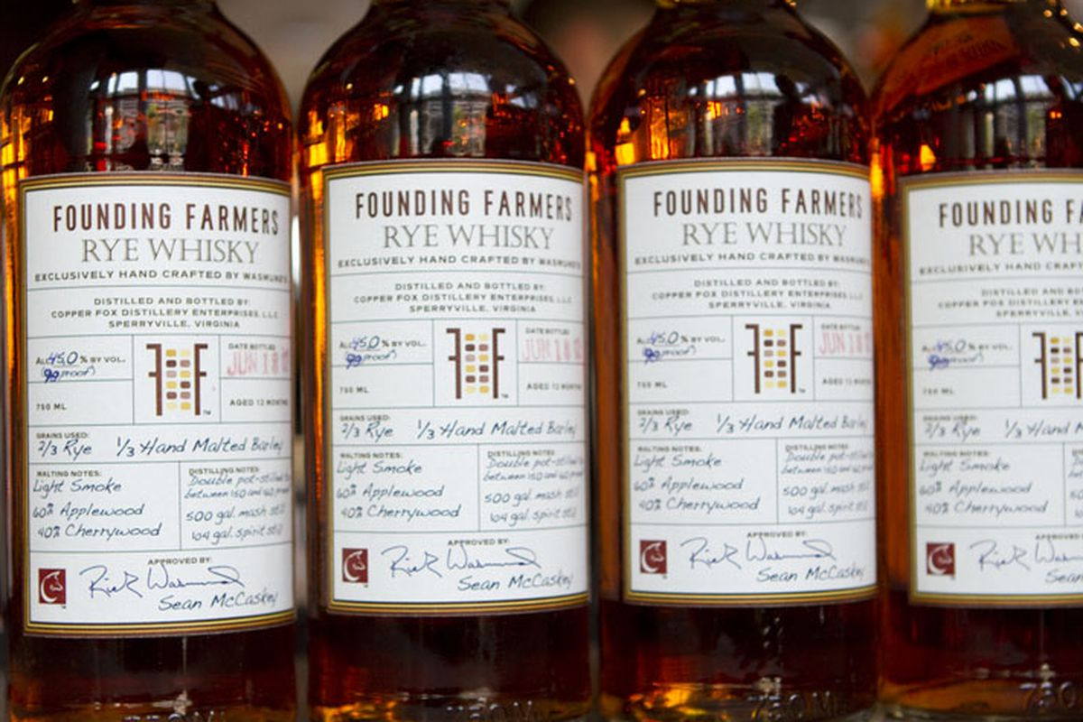 Whiskey from Founding Farmers