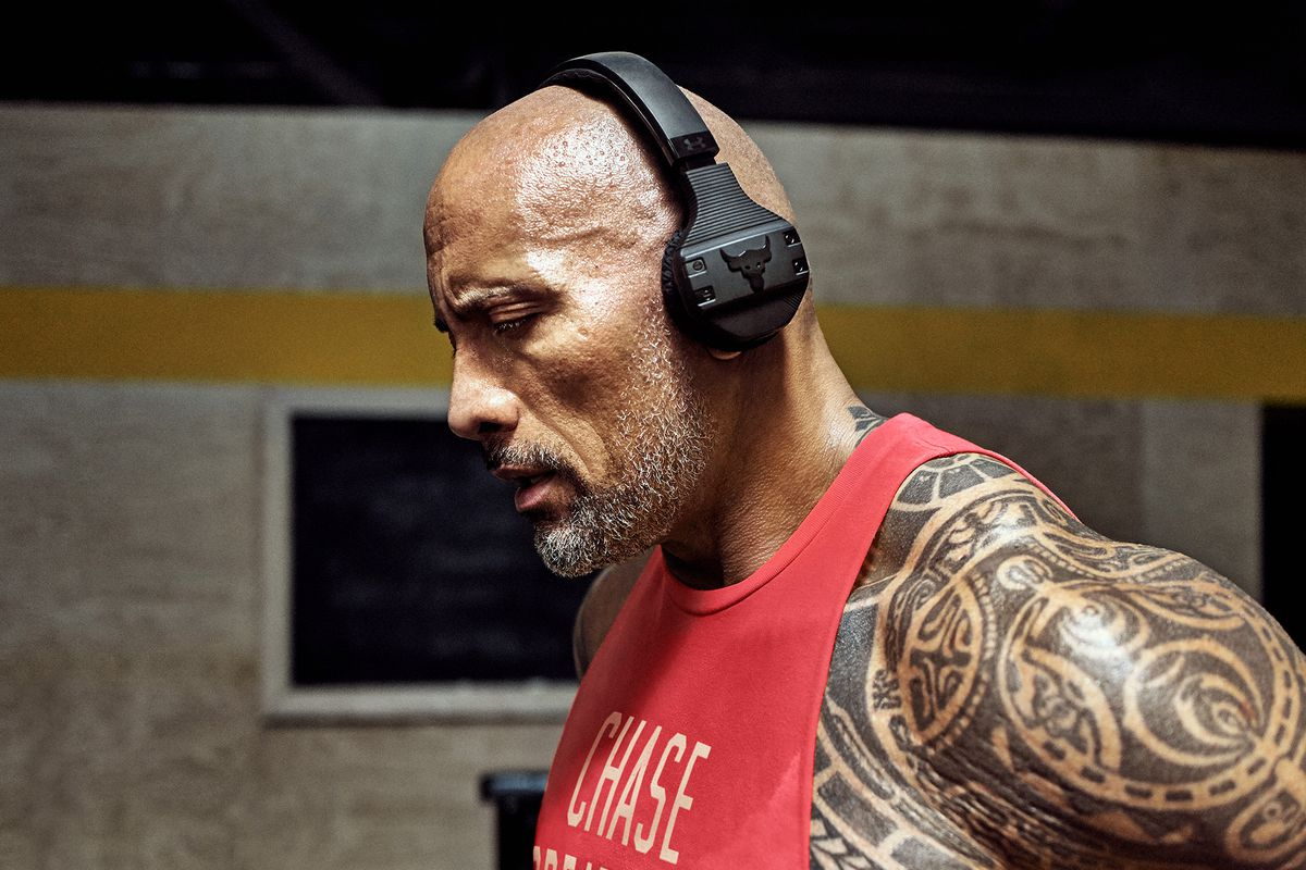 26d660615bd The Rock launches his own sweat-proof workout headphones - The Verge