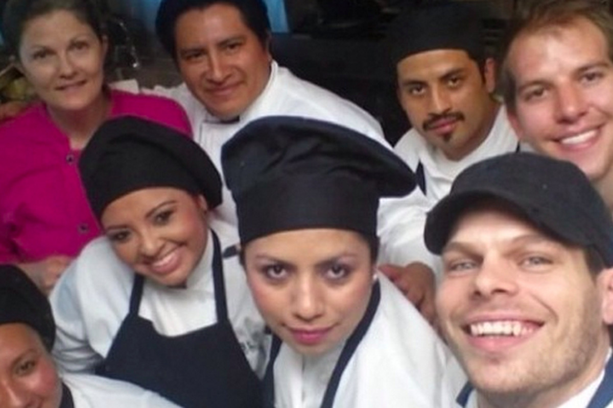 William Wright, top right, is the new chef at Helen Greek Food + Wine