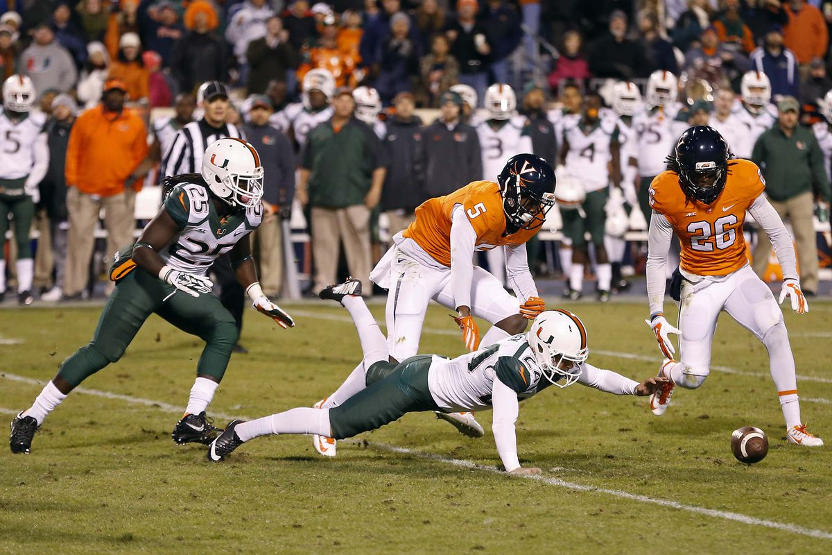 A blocked FG helped the Hoos outlast the Canes 30-13.