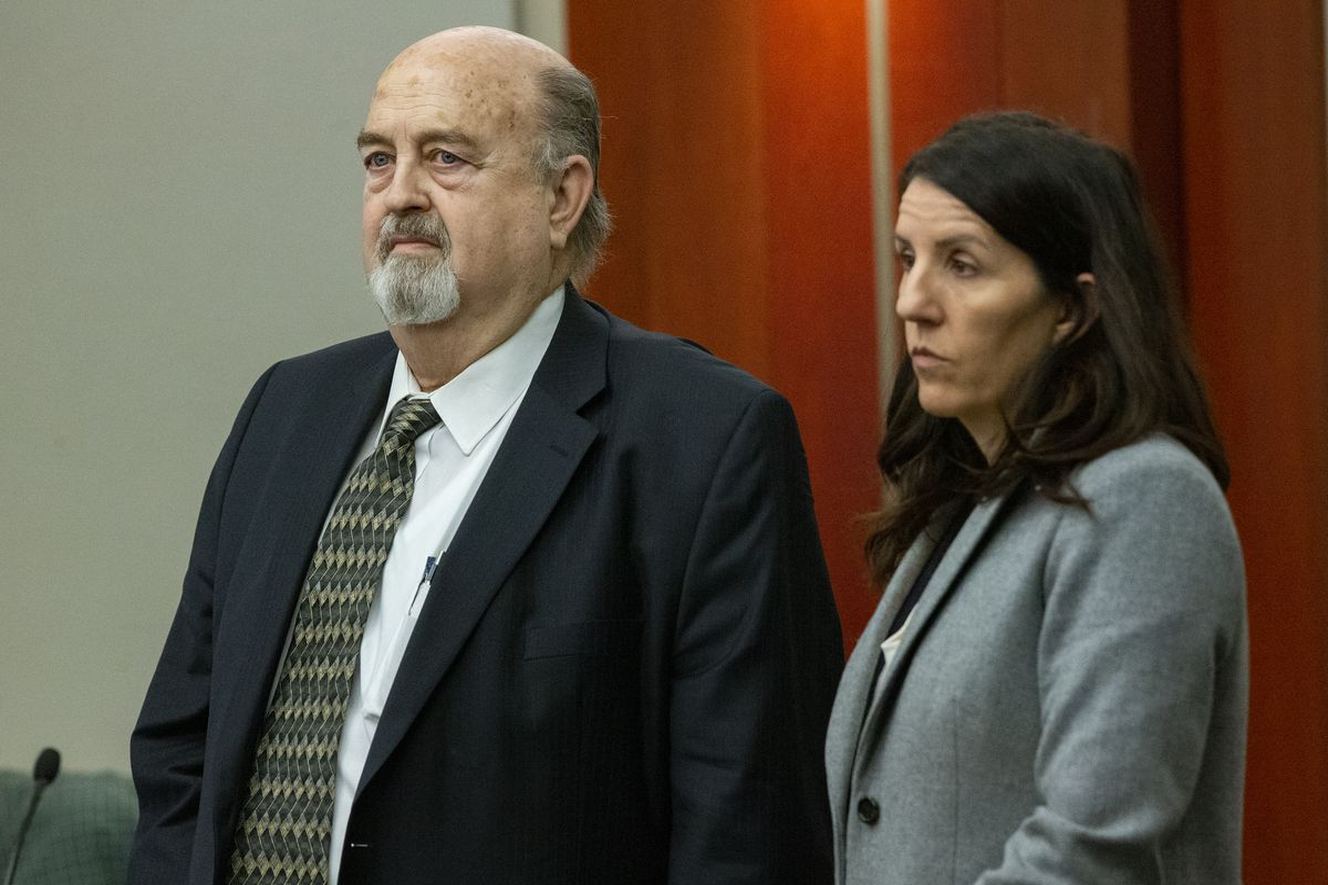 Brent E. Taylor, former director of the Utah Valley Youth Symphony, stands with defense attorney Cara Tangaro during his initial appearance before 3rd District Judge Keith Kelly at the Matheson Courthouse in Salt Lake City on Monday, Jan. 7, 2019. Taylor, who is accused of sexually abusing three boys about 30 years ago, was ordered Monday to wear an ankle monitor.