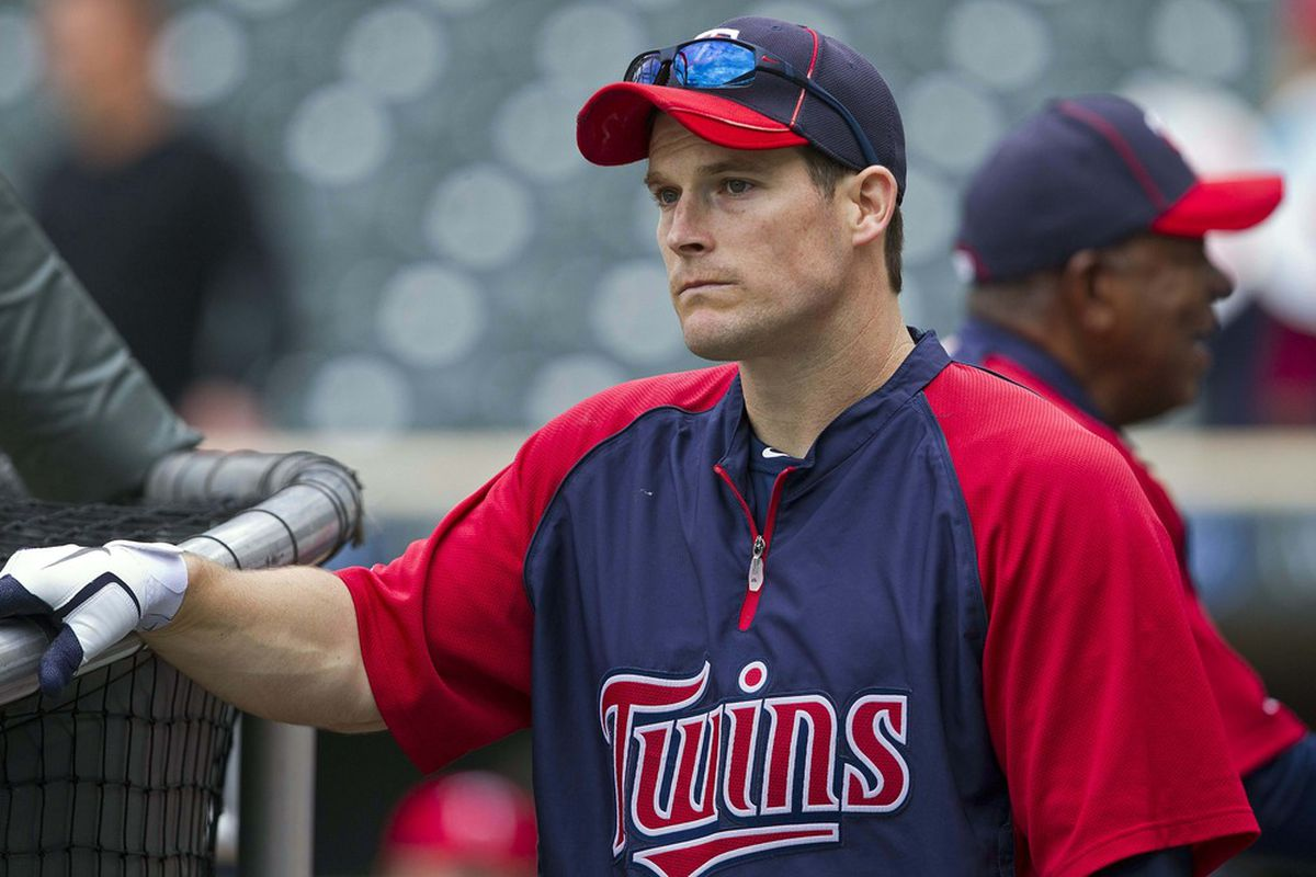 """<em>""""Man, just think how many homers I could hit if I got to hit AGAINST my teammates,""""</em> Willingham thought. Mandatory Credit: Jesse Johnson-US PRESSWIRE"""