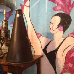 Vintage megaphone (originally $225, now $112.50)