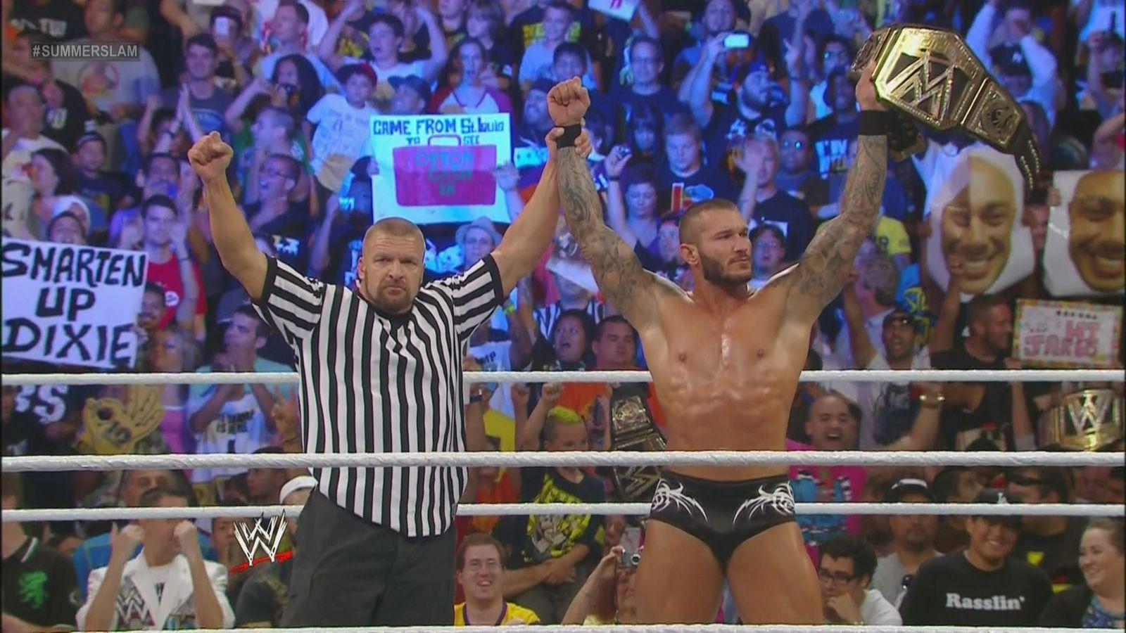 Summerslam results: Randy Orton cashes in Money in the Bank on Daniel  Bryan, wins WWE Title - SBNation.com