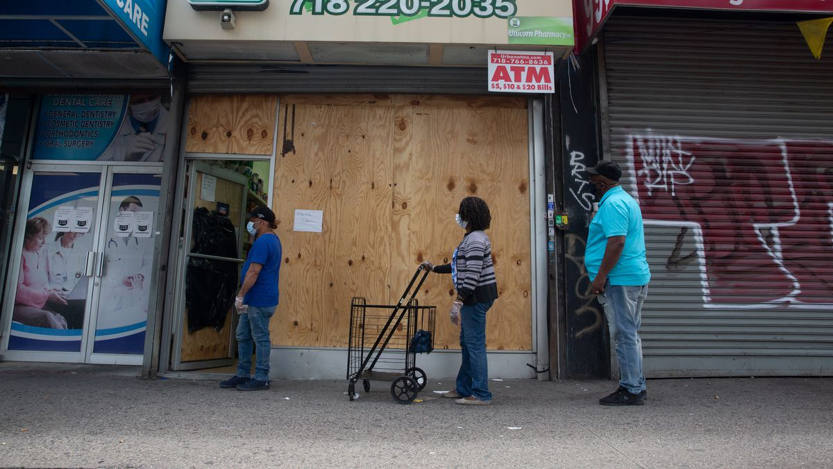 Planet Pharmacy on Grand Concourse in The Bronx was robbed during protests over the death of George Floyd, June 18, 2020.