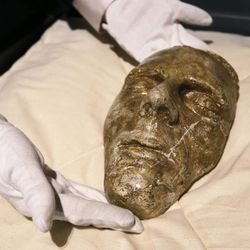 The death mask of Joseph Smith is taken down at the Church History Museum in Salt Lake City Wednesday, Sept. 24, 2014. Thirty years after its original opening, the Church History Museum will close on October 6, 2014, for one year to complete major renovations. The museum will reopen in fall 2015 with a newly designed floor plan and exhibitions.