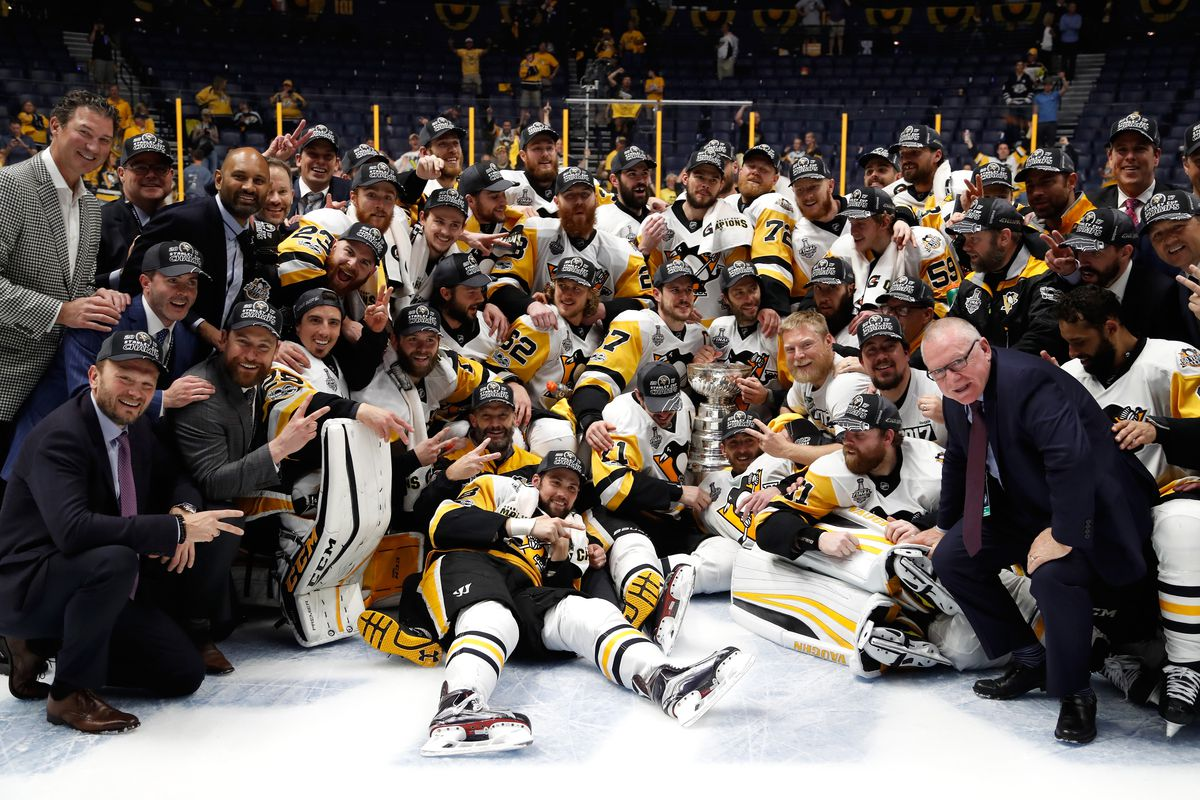 Pittsburgh Penguins celebrate Stanley Cup win