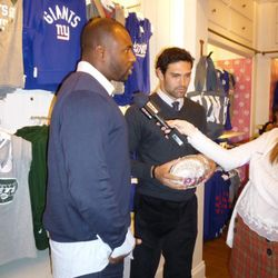 Brandon Jacobs and Mark Sanchez in an E! interview