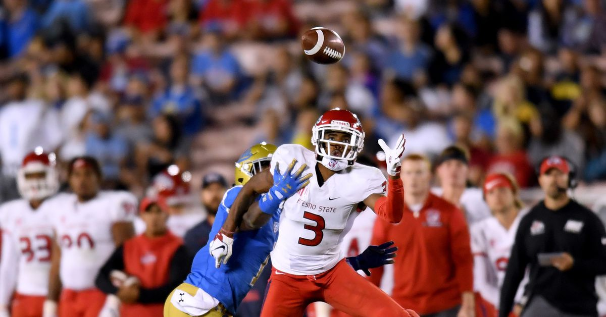 Fresno State WR KeeSean Johnson works out for 49ers