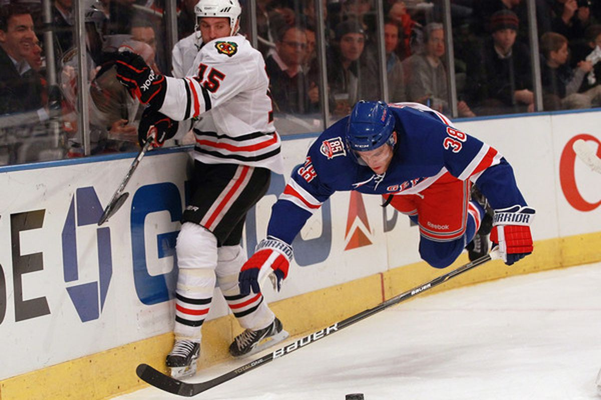 I will miss having a defenseman that can fly and has killer vision tonight.