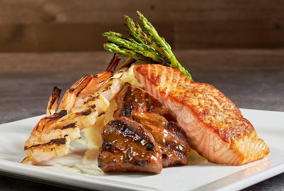 Salmon, steak tips, and shrimp —a menu sneak peek from Ten Pin Eatery