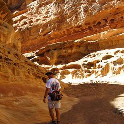 4. The rock formations are beautiful in Crack Canyon. The holes in the rock look like miniature arches.