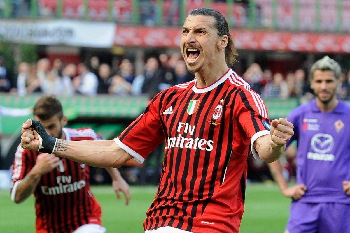 Zlatan Ibrahimovic scored 56 goals in his first stint at Milan.