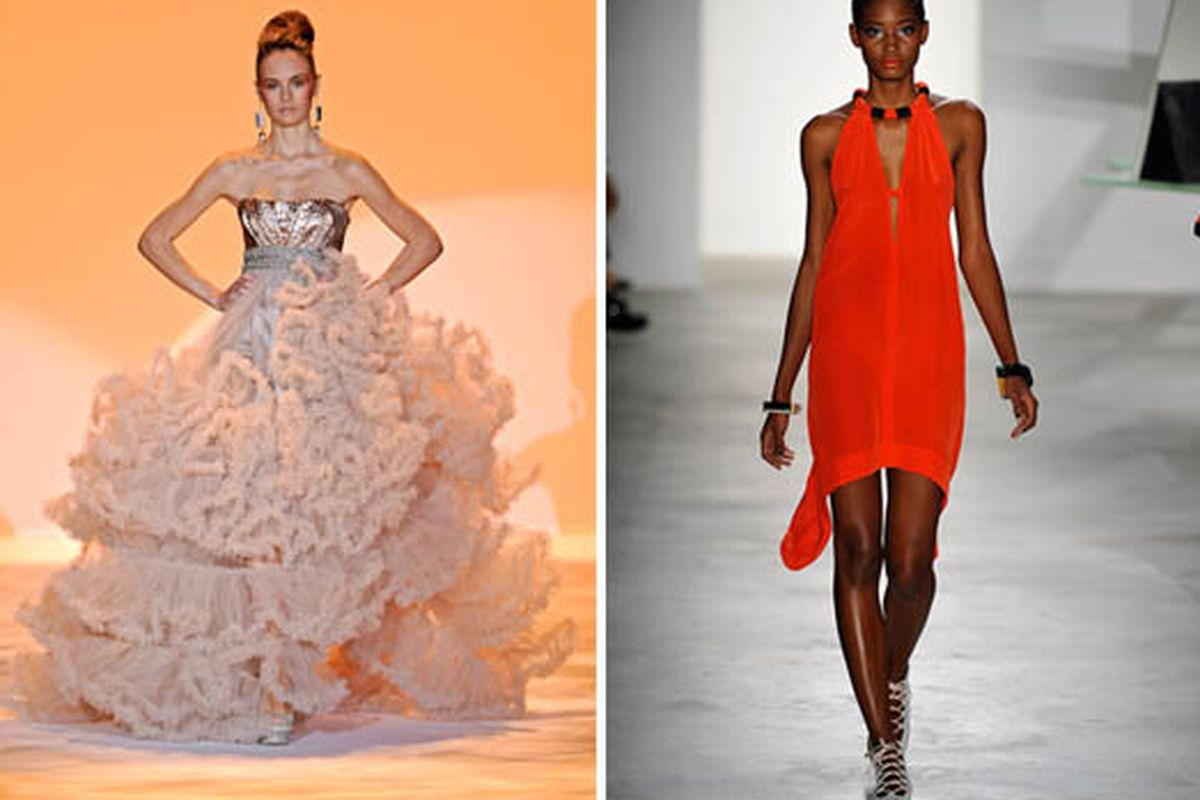 """Christian Siriano <a href=""""http://www.style.com/fashionshows/complete/slideshow/S2011RTW-CSIRIANO?event=show2182&amp;designer=design_house2897&amp;trend=&amp;iphoto=39#slide=38"""">image</a> and Vena Cava <a href=""""http://www.style.com/fashionshows/comp"""
