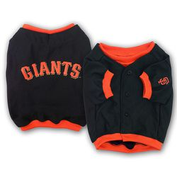 "<strong>San Francisco Giants</strong> Dog Jersey, <a href=""http://www.sportsfanimals.com/san-francisco-giants-dog-jersey-deluxe/"">$24.95</a> at Sports Fanimals"