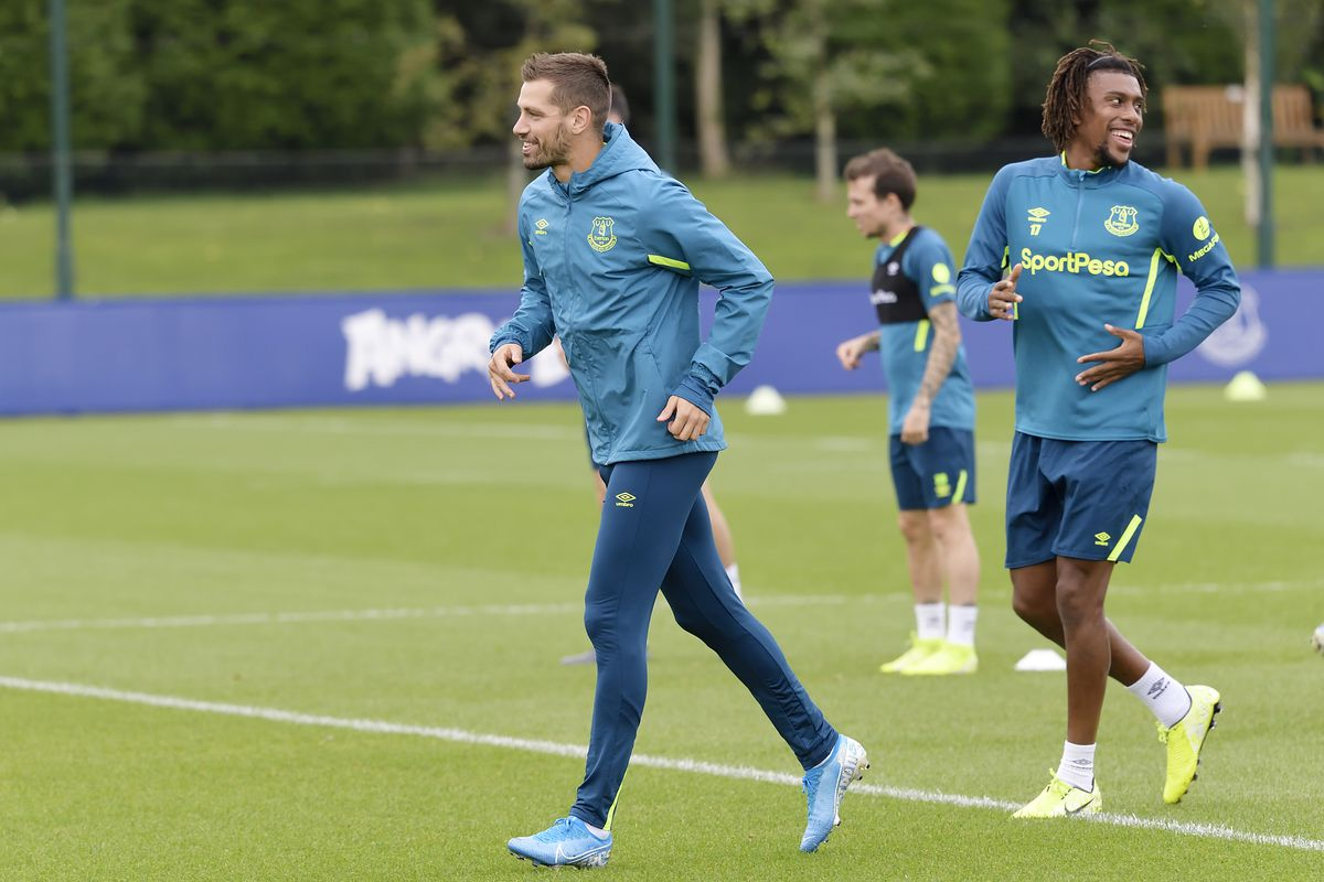 Everton Training Session & Press Conference