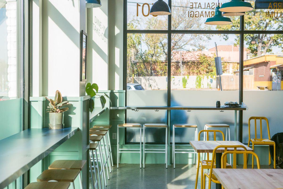 Counter seating at La Matta