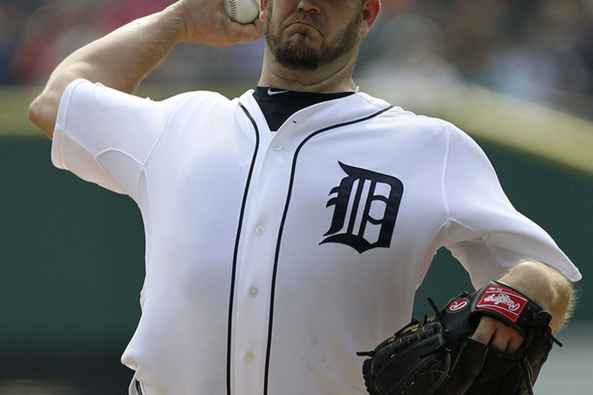 DETROIT - SEPTEMBER 25:  Brad Penny #31 of the Detroit Tigers pitches in the first inning of the game against the Baltimore Orioles at Comerica Park on September 25, 2011 in Detroit, Michigan.  (Photo by Leon Halip/Getty Images)