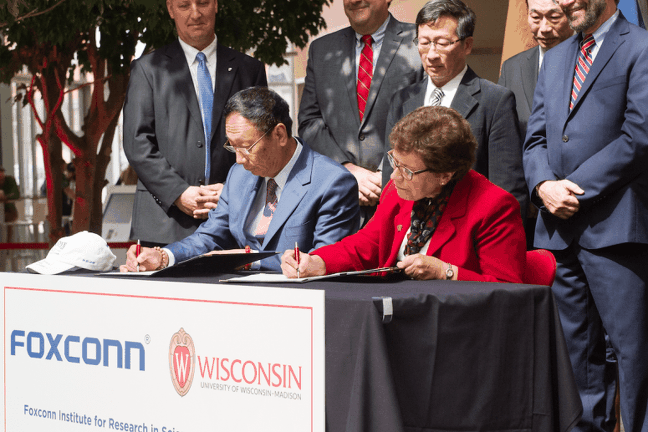 foxconn s 100m deal with the university of wisconsin has students worried