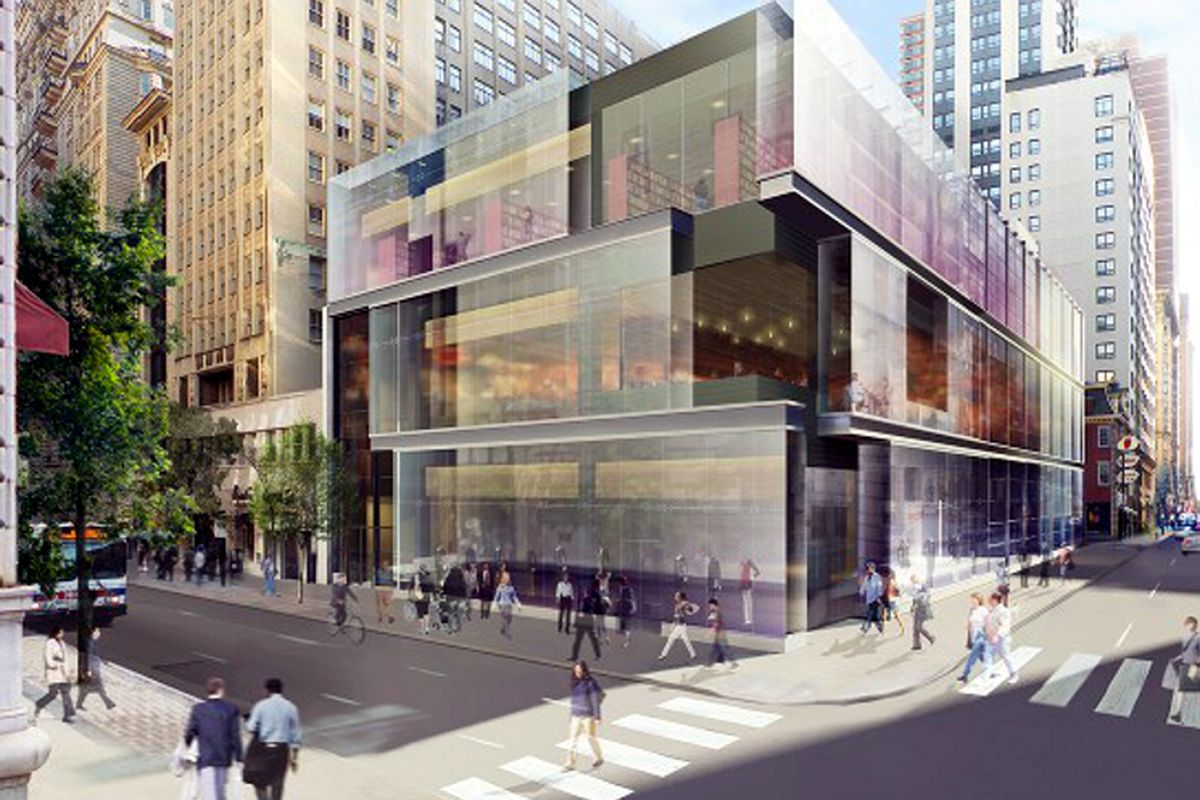 A rendering of the new building, where the Cheesecake Factory will take over the second floor.