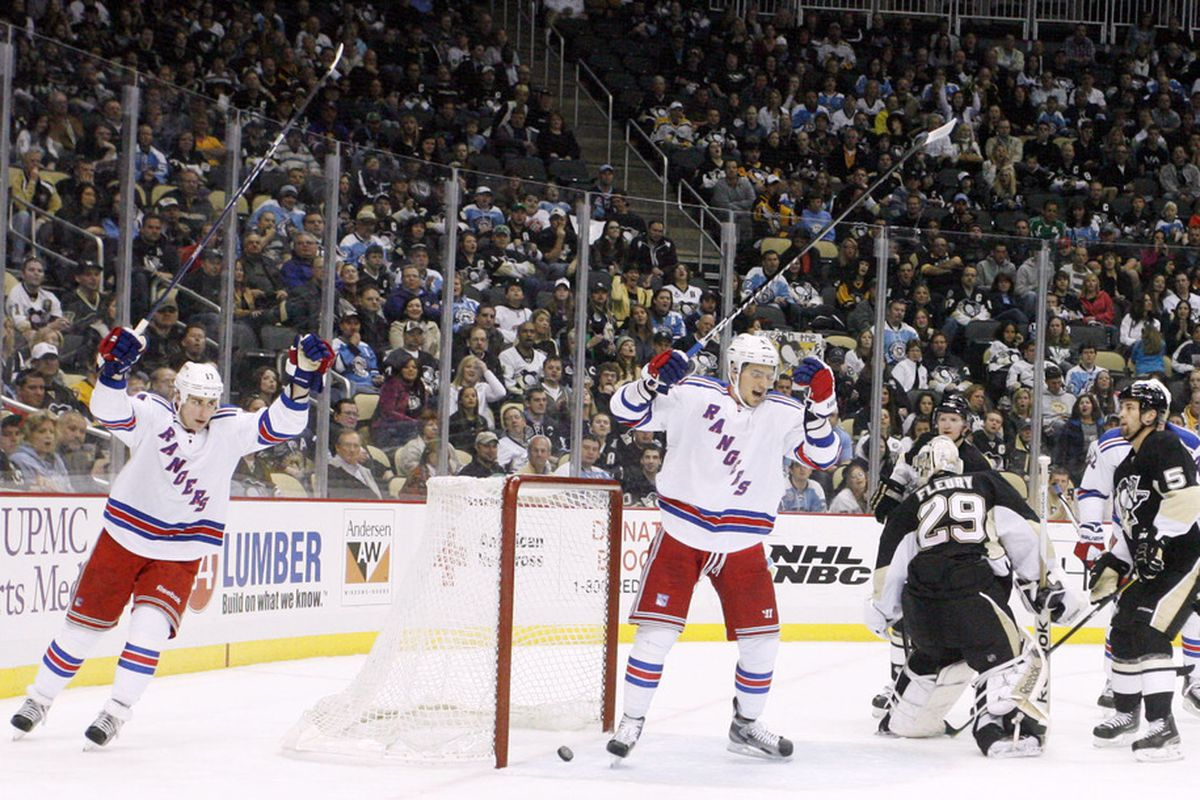 Though many expect Brandon Dubinsky and Artem Anisimov to compete for spots in the top six, don't discount their ability to fit into the club's defense, either. (US PRESSWIRE)