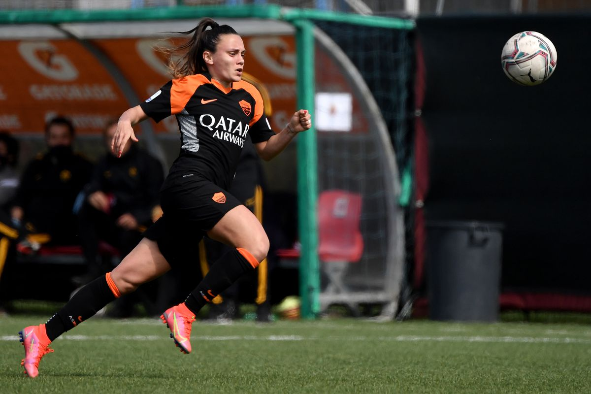 Annamaria Serturini of AS Roma in action during the Women...
