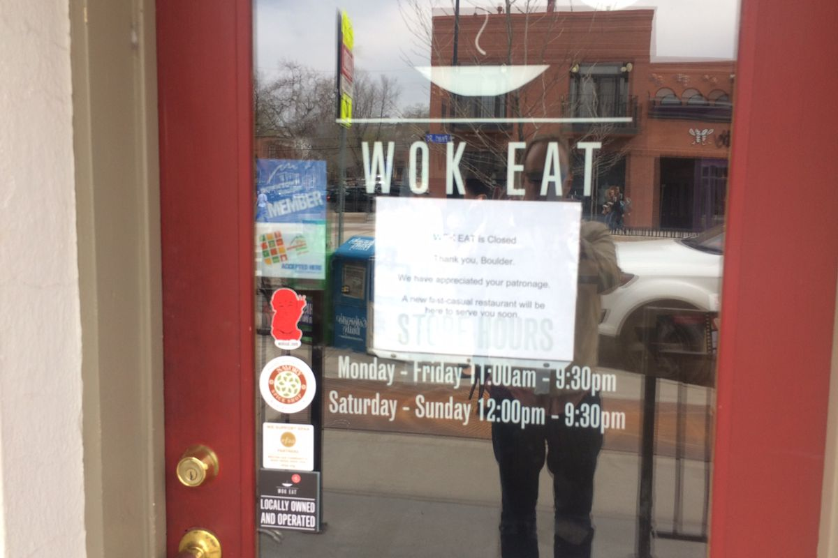 Wok Eat closing letter to diners